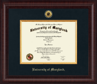 University of Maryland, College Park Diploma Frame - Presidential Gold Engraved Diploma Frame in Premier