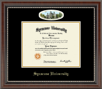 Syracuse University Diploma Frame - Campus Cameo Diploma Frame in Chateau