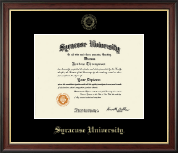Syracuse University Diploma Frame - Gold Embossed Diploma Frame in Studio Gold