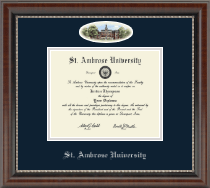 Saint Ambrose University Diploma Frame - Campus Cameo Diploma Frame in Chateau