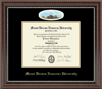 Mount Vernon Nazarene University Diploma Frame - Campus Cameo Diploma Frame in Chateau