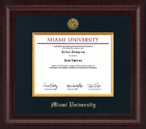 Miami University Diploma Frame - Presidential Gold Engraved Diploma Frame in Premier