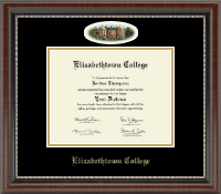 Elizabethtown College Diploma Frame - Campus Cameo Diploma Frame in Chateau