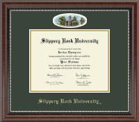 Slippery Rock University Diploma Frame - Campus Cameo Diploma Frame in Chateau