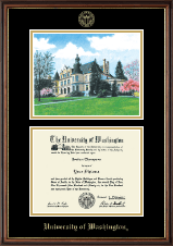 University of Washington Diploma Frame - Campus Scene Edition Diploma Frame in Williamsburg