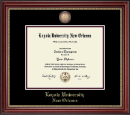 Loyola University New Orleans Diploma Frame - Masterpiece Medallion Diploma Frame in Kensington Gold