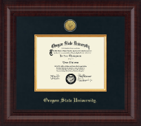 Oregon State University Diploma Frame - Presidential Gold Engraved Diploma Frame in Premier