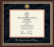 The University of Texas Austin Diploma Frame - Gold Engraved Medallion Diploma Frame in Hampshire