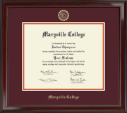Maryville College Diploma Frame - Gold Embossed Diploma Frame in Encore