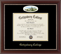 Gettysburg College Diploma Frame - Campus Cameo Diploma Frame in Chateau