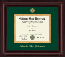 Colorado State University Diploma Frame - Presidential Gold Engraved Diploma Frame in Premier
