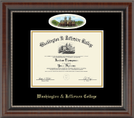 Washington & Jefferson College Diploma Frame - Campus Cameo Diploma Frame in Chateau