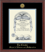The Citadel The Military College of South Carolina Diploma Frame - Gold Engraved Medallion Diploma Frame in Signature