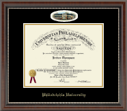 Philadelphia University Diploma Frame - Campus Cameo Diploma Frame in Chateau