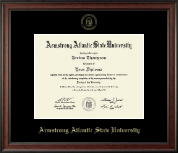 Armstrong Atlantic State University Diploma Frame - Gold Embossed Diploma Frame in Studio