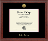 Bates College Diploma Frame - Gold Engraved Medallion Diploma Frame in Signature