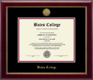 Bates College Diploma Frame - Gold Engraved Medallion Diploma Frame in Gallery