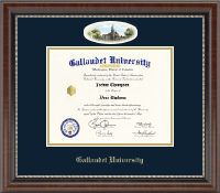 Gallaudet University Diploma Frame - Campus Cameo Diploma Frame in Chateau