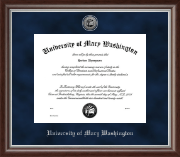 University of Mary Washington Diploma Frame - Silver Engraved Medallion Diploma Frame in Devonshire