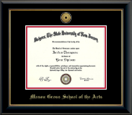 Rutgers University Diploma Frame - Gold Engraved Medallion Diploma Frame in Onyx Gold