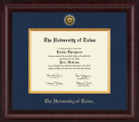 The University of Tulsa Diploma Frame - Presidential Gold Engraved Diploma Frame in Premier