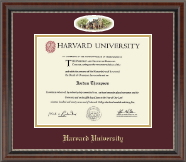Harvard University Diploma Frame - Campus Cameo Diploma Frame in Chateau