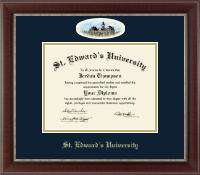 St. Edward's University Diploma Frame - Campus Cameo Diploma Frame in Chateau