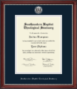 Southeastern Baptist Theological Seminary Diploma Frame - Silver Engraved Medallion Diploma Frame in Kensington Silver