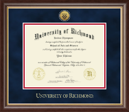 University of Richmond Diploma Frame - Gold Engraved Medallion Diploma Frame in Hampshire