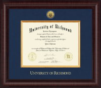 University of Richmond Diploma Frame - Presidential Gold Engraved Diploma Frame in Premier