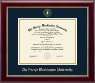 The George Washington University Diploma Frame - Gold Embossed Diploma Frame in Gallery