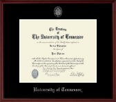 The University of Tennessee Knoxville Diploma Frame - Silver Embossed Diploma Frame in Camby