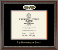 The University of Texas Austin Diploma Frame - Campus Cameo Diploma Frame in Chateau
