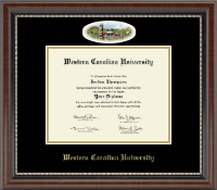 Western Carolina University Diploma Frame - Campus Cameo Diploma Frame in Chateau