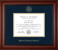 Phillips Academy Andover Diploma Frame - Gold Embossed Diploma Frame in Cambridge