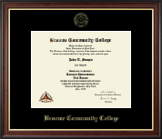 Broome Community College Diploma Frame - Gold Embossed Diploma Frame in Studio Gold
