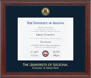 The University of Arizona Diploma Frame - Gold Engraved Diploma Frame in Signature