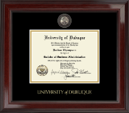 University of Dubuque Diploma Frame - Masterpiece Medallion Diploma Frame in Encore
