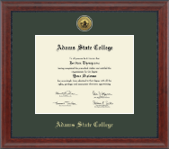 Adams State College Diploma Frame - Gold Engraved Medallion Diploma Frame in Signature