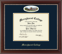 Mercyhurst College Erie Diploma Frame - Campus Cameo Diploma Frame in Chateau