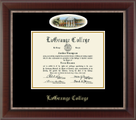 LaGrange College Diploma Frame - Campus Cameo Diploma Frame in Chateau