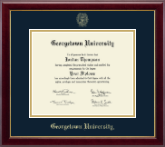 Georgetown University Diploma Frame - Gold Embossed Diploma Frame in Gallery