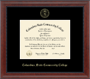 Columbus State Community College Diploma Frame - Gold Embossed Diploma Frame in Signature