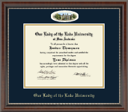 Our Lady of the Lake University Diploma Frame - Campus Cameo Diploma Frame in Chateau