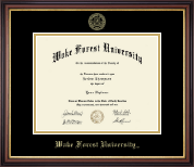Wake Forest University Diploma Frame - Gold Embossed Diploma Frame in Regency Gold