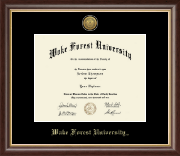 Wake Forest University Diploma Frame - Gold Engraved Medallion Diploma Frame in Hampshire