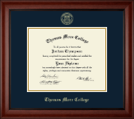 Thomas More College Diploma Frame - Gold Embossed Diploma Frame in Cambridge