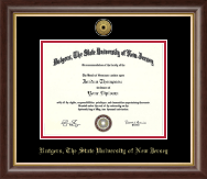 Rutgers University, The State University of New Jersey Diploma Frame - Gold Engraved Medallion Diploma Frame in Hampshire