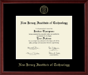 New Jersey Institute of Technology Diploma Frame - Gold Embossed Edition Diploma Frame in Camby