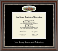 New Jersey Institute of Technology Diploma Frame - Campus Cameo Diploma Frame in Chateau